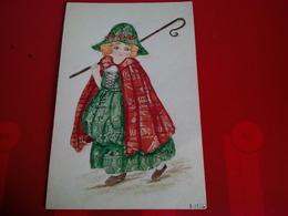 MONTAGE AVEC TIMBRES FAIT MAIN JEUNE FEMME - Stamps (pictures)