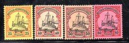 APR1125 - NEU GUINEA 1900 , 4 Valori Diversi Linguellati  *  (2380A) . - Colonia: Africa Sud Occidentale