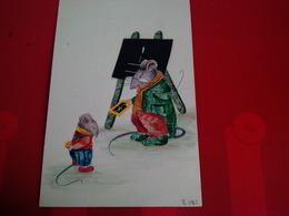 MONTAGE AVEC TIMBRES FAIT MAIN SOURIS HUMANISEES - Stamps (pictures)