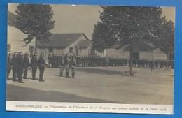 77 - FONTAINEBLEAU - MILITARIA - PRÉSENTATION DE L'ÉTENDARD  AUX JEUNES SOLDATS DU 7e DRAGONS, CLASSE 1916 - Fontainebleau