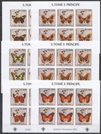 YY419 IMPERFORATE 2003 SAO TOME & PRINCIPE BUTTERFLIES SCOUTING !!! 6SET MNH - Papillons