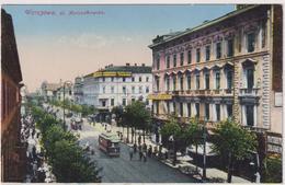 Warszawa.Marszalkowski Street,tram.Nr.22 - Polonia