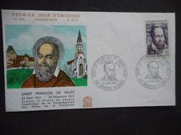 Enveloppe Premier Jour SAINT FRANCOIS DE SALES 1967 - 1960-1969