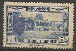 Lebanon - 1937 Airmail Beit-Eddine 0.50pi  MNH **  Mi 228 Sc C65 - Great Lebanon (1924-1945)
