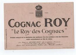 """BUVARD --- """"COGNAC ROY"""" -- """"Le Roy Des Cognacs"""" - Chocolat"""