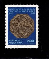771842024 1982 SCOTT 1402 1403 POSTFRIS  MINT NEVER HINGED EINWANDFREI  (XX) - JOCKEY CLUB BUENOS AIRES - PELLEGRINI CAR - Neufs