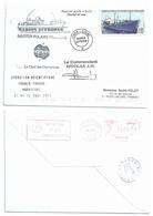YT 305 - Sapmer I - Lettre Postée à Bord Du MD - Ema De Karakoy Au Dos - 28/08/2001 - French Southern And Antarctic Territories (TAAF)
