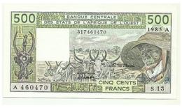 Costa D'Avorio - 500 Francs 1985 - Costa D'Avorio