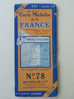 Ancienne Carte Michelin E N°78 De Bordeaux, Bayonne, Landes Et Pays Basque - Sport