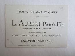 Chromos Chromo Publicité Huiles Savons Cafés L Aubert Père Et Fils Salon De Provence Mini Calendrier 1923 - Publicidad