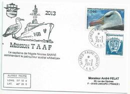 YT 466 - Albatros à Sourcils Noirs - Posté à Bord De L'Albatros - Alfred Faure - Crozet - 16/03/2013 - Terres Australes Et Antarctiques Françaises (TAAF)