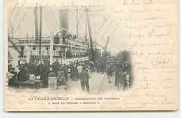 """LA PALLICE-ROCHELLE - Embarquement Des Passagers A Bord Du Steamer """"Orellana"""" - La Rochelle"""