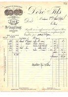 1919 FACTURE DORé Fils  BONNETERIE Aux GRES AUBE - France
