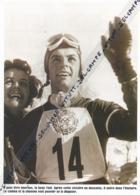 SKI : PHOTO (1956), JEUX OLYMPIQUES DE CORTINA (ITALIE), TONI SAILIER TRIPLE VAINQUEUR, SLALOM, GEANT ET DESCENTE... - Sports D'hiver