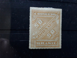 BRASIL / BRAZIL / BRESIL 1889 JORNAES / Journaux Newspapers , Yvert No 12, 50 R Jaune Foncé,  Neuf * MH TB - Ungebraucht