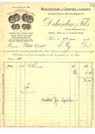 1911 FACTURE DEHESDIN & Fils CHEMISES ET LINGERIE RUE REAUMUR à PARIS - France