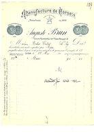 1912 FACTURE AUGUSTE BRUN MANUFACTURE DE CORSETS à LYON - France