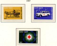 PIA - FINLANDIA  - 1967 : Pro Croce Rossa- Ambulanze E Stemma - (Yv 600-02) - Primo Soccorso