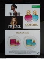 BENETTON Colors Parfum Carte Avec 2 Patch - Perfume Cards