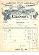 1911 FACTURE SEILIGMANN & Cie GILETS DE FLANELLE à VAUCOULEURS MEUSE - France