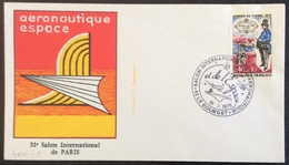 D400-1 Salon International De L'Aéronautique Et De L'Espace Le Bourget 30/5/1975 1632 - Postmark Collection (Covers)