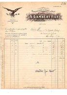 1911 FACTURE A. LAMBERT Et Fils MANUFACTURE DE GANTS DE PEAUX à SAINT JUNIEN HAUTE VIENNE - 1900 – 1949