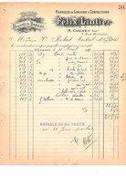 1911 FACTURE FELIX LIOTIER LINGERIE ET CONFECTIONS RUE MICHELET à SAINT ETIENNE - France