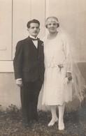 Drome : ROMANS-sur-ISERE : Photo Paul BOYER - élégant Couple De Marié ( Carte-photo ) - Romans Sur Isere