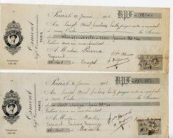 ECOLE PRATIQUE DE COMMERCE DE PARIS. LOT DE 4 BILLETS A ORDRE OSMONT NEGOCIANT COMMISSIONNAIRE 1913 - France