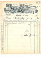1911 FACTURE CHARLON & Cie GANTS DE PEAUX RUE BAYARD à GRENOBLE - France