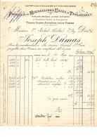 1911 FACTURE JOSEPH DUMAS FABRIQUE DE MOUSSELINES UNIES à TARARE RHONE - France