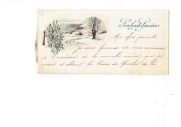 Mignonnette Souhaits Sincères Paysage Neige Gui - Citation CROIX De Chevalier LÉGION D'HONNEUR 114e Régiment Infanterie - Documents