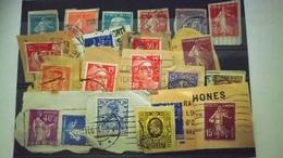 P103 PLAQUETTE TIMBRES PERFORES DU MONDE  A TRIER BELLE COTE DÉPART 1€ - Stamps