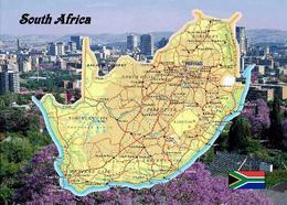 South Africa Country Map New Postcard Südafrika Landkarte AK - Südafrika