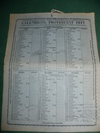 CALENDRIER PROTESTANT 1917 - Calendriers