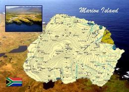 Marion Island Map New Postcard Marioninseln Landkarte Südafrika AK - Südafrika