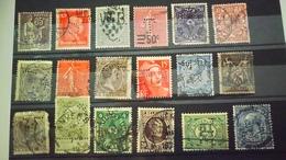 P109 PLAQUETTE TIMBRES PERFORES DU MONDE  A TRIER BELLE COTE DÉPART 1€ - Stamps