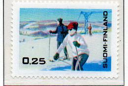 PIA - FINLANDIA - 1968 : Propaganda Per Gli Sport Invernali - (Yv 607) - Sci