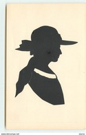Silhouette N°11 -  Femme Portant Un Chapeau - Scherenschnitt - Silhouette
