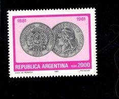 771876614 1981 SCOTT 1327 1328 POSTFRIS  MINT NEVER HINGED EINWANDFREI  (XX) - PESO COIN CENTENARY - Neufs
