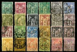 France - Lot Sage Oblitérés - Tous états - Cote ? - 1876-1898 Sage (Type II)