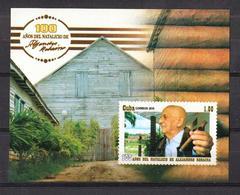 Cuba 2019 100th Anniversary Of Alejandro Robaina's Birthdate. Tobacco Farmer S/S MNH - Agriculture