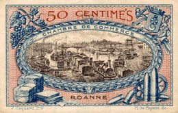 6926-2019    BILLET CHAMBRE DE COMMERCE  DE ROANNE - Chamber Of Commerce