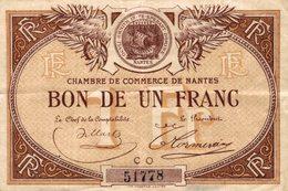 6927-2019    BILLET CHAMBRE DE COMMERCE  DE  NANTES - Chamber Of Commerce