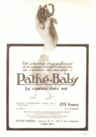 "PUB    "" PATHE-BABY ""    1923 ( 3 ) - Photographie"