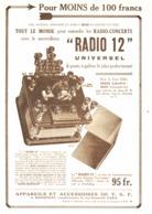 """PUB TSF   """" RADIO 12 """"    1923 ( 1 ) - Technical"""