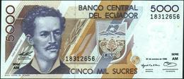 ECUADOR - 5.000 Sucres 31.10.1996 {Serie AM} UNC P.128 B - Ecuador