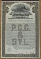 1925 Pittsburgh, Cincinnati, Chicago And St. Louis Railroad. - Spoorwegen En Trams