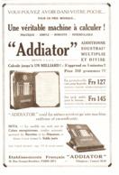 """PUB MACHINE A CALCULER    """" ADDIATOR """"    1923 ( 1 ) - Technical"""