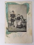 """CPA, Enfants En Tenues Militaires - """"Tu Seras Général"""", éditions LV Paris, écrite En 1903 - Cartes Humoristiques"""